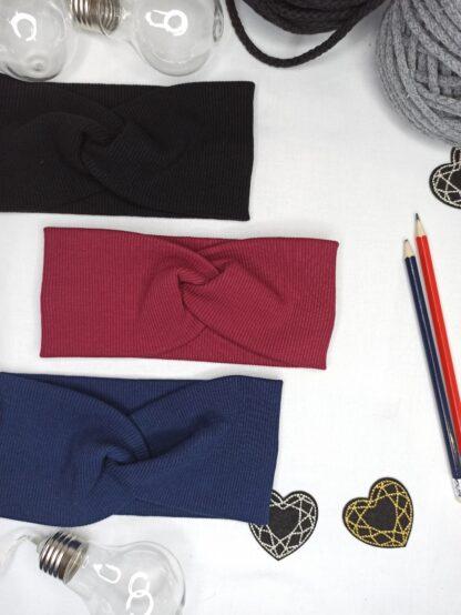 Opaski - czarna, bordo, granat