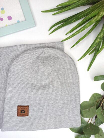 Zestaw czapka + komin - melanż