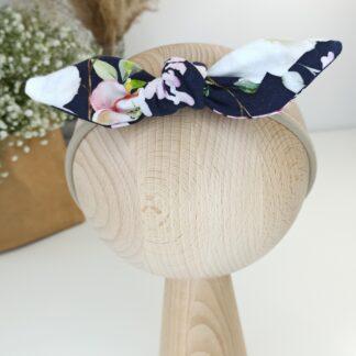 Opaska na gumce - ciemne kwiaty 1