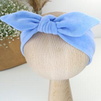 Opaska welurowa pinup - baby blue 1