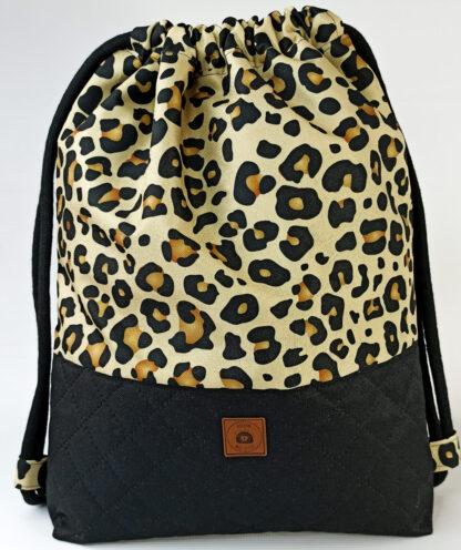 Worko-plecak czarny + panterka