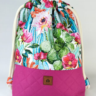 Worko-plecak fuksja + kaktusy