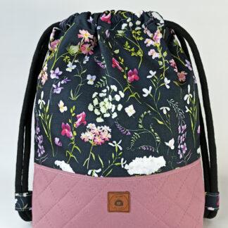 Worko-plecak wrzos + ciemne polne kwiaty