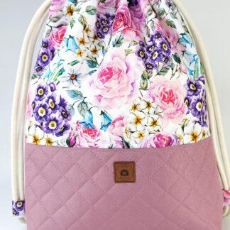 Worko-plecak wrzos + drobne kwiaty