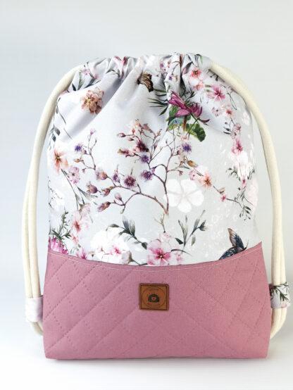 Worko-plecak wrzos + kwiaty wiśni