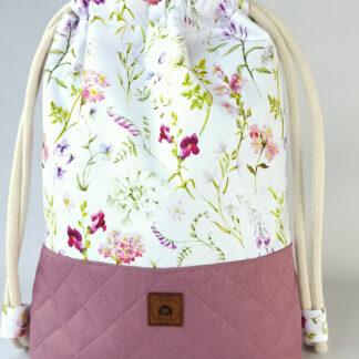 Worko-plecak wrzos + polne kwiaty