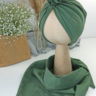 Zestaw turban + chusta - khaki 1